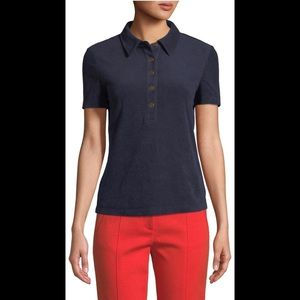 Tory Burch navy polo top